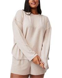 Cotton On Plus Size Trendy Super Soft Long Sleeve Crew Sweater - Multicolor