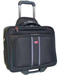 Mancini Biztech Collection Wheeled Laptop/ Tablet Slim Briefcase - Black