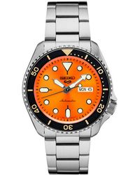 Seiko - Automatic Stainless Steel Bracelet Watch 40mm - Lyst