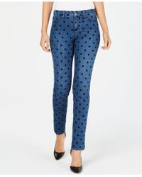 Charter Club - Flocked-dot Tummy-control Skinny Jeans, Created For Macy's - Lyst