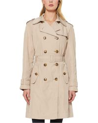 Kate Spade Double-breasted Belted Trench Coat - Natural