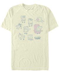 Fifth Sun Sponge Meme Chart Short Sleeve Crew T-shirt - Natural