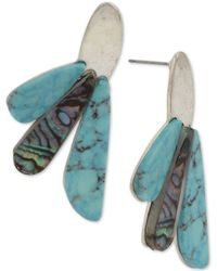 Robert Lee Morris Silver-tone Multi-stone Drop Earrings - Multicolour