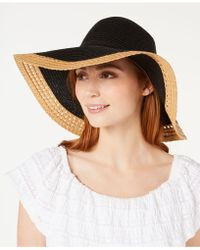INC International Concepts - I.n.c. Mixed Braid Colorblocked Floppy Hat, Created For Macy's - Lyst