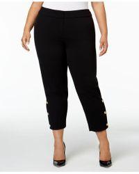 Nine West - Plus Size Button-hem Ankle Pants - Lyst