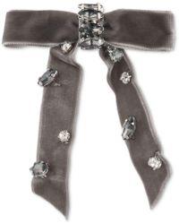 Lonna & Lilly Stone & Fabric Bow Hair Barrette - Grey