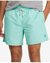 """Polo Ralph Lauren - Traveler 5.5"""" Swim Trunks - Lyst"""