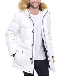 Tommy Hilfiger Long Snorkel Coat - White