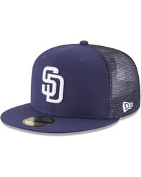 new styles 47177 a1a79 KTZ - San Diego Padres On-field Mesh Back 59fifty Fitted Cap - Lyst