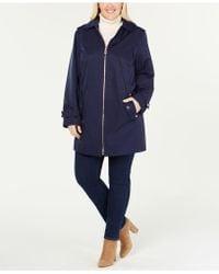 Michael Kors - Michael Plus Size Hooded Raincoat - Lyst