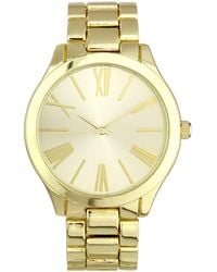 INC International Concepts - Gold-tone Bracelet Watch 42mm, Created For Macy's - Lyst