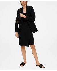 Mango Suit Blazer - Black