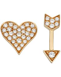 Serena Williams Jewelry Diamond (1/6 Ct. T.w.) Heart And Arrow Stud Earrings In 14k Yellow Gold
