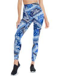 K-DEER Bandana Print 7/8 Leggings - Blue