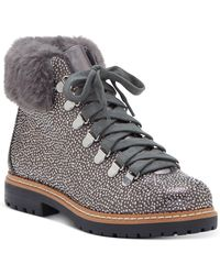 INC International Concepts Pravale Lace-up Lug Sole Hiker Bling Booties, Created For Macy's - Multicolor