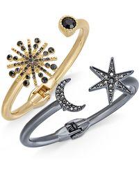 INC International Concepts | 2-pc. Set Astronomical Pavé Crystal Hinged Bracelets | Lyst