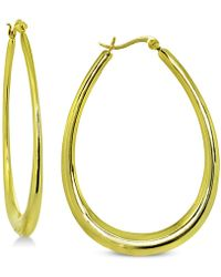 Giani Bernini - Graduated Oval Hoop Earrings In 18k Gold-plated Sterling Silver, Created For Macy's - Lyst
