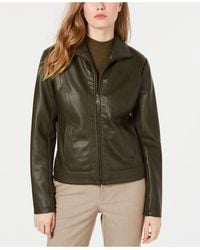 Kenneth Cole Faux-leather Jacket - Green