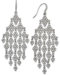 INC International Concepts | Silver-tone Crystal Chandelier Earrings | Lyst