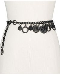 DKNY - Token Logo Charm Chain Belt, Created For Macy's - Lyst