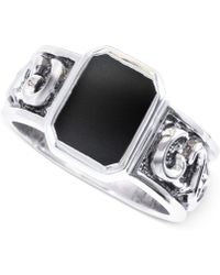 Effy Collection - Effy Men's Onyx Ring In Sterling Silver (2 Ct. T.w.) - Lyst