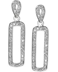 Effy Collection - Effy Diamond Diamond Drop Earrings (3/8 Ct. T.w.) In 14k White Gold - Lyst