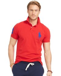 Polo Ralph Lauren | Men\u0026#39;s Custom-fit Big Pony Mesh Polo Shirt | Lyst