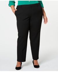 Charter Club Plus Size Slim-leg Ankle Pants, Created For Macy's - Black