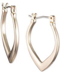 Ivanka Trump - Gold-tone Tapered Hoop Earrings - Lyst