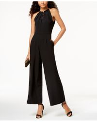 Donna Ricco - Sleeveless Hardware-embellished Jumpsuit - Lyst