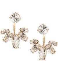 Marchesa - Gold-tone Crystal Jacket Earrings - Lyst