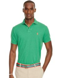 Polo Ralph Lauren | Men\u0026#39;s Custom-fit Mesh Polo Shirt | Lyst