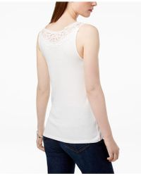 Tommy Hilfiger - Cotton Striped Lace-trim Top, Created For Macy's - Lyst