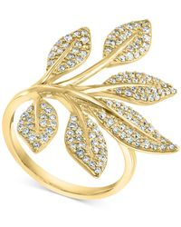 Effy Effy® Diamond Pavé Vine Ring (3/4 Ct. T.w.) In 14k Gold - Metallic
