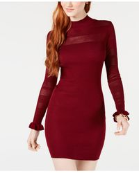 Almost Famous Juniors' Bodycon Sweater Dress - Red