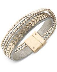 Lonna & Lilly Faux Leather Bangle Bracelet - Metallic