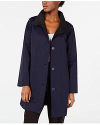 Eileen Fisher - Organic Stand-collar Reversible Coat, Regular & Petite - Lyst