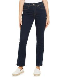 Style & Co. Petite High-rise Natural Straight Leg Jean, Created For Macy's - Blue