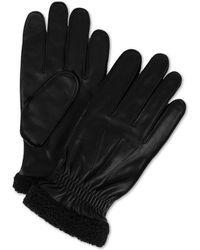 Tommy Hilfiger Boulder Leather Touch-screen Gloves - Black