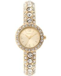Style & Co. Women's Crystal-accent Gold-tone Cuff Bracelet Watch 26mm Sy016g - Metallic
