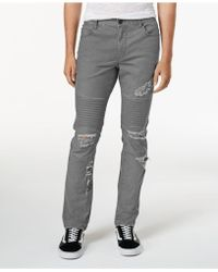 American Rag - Men's Classic-fit Stretch Destroyed Moto Jeans - Lyst
