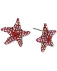 Betsey Johnson - Pavé Starfish Stud Earrings - Lyst