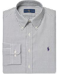 Charcoal Bengal Stripe Dress Shirt