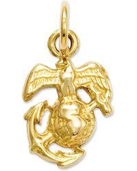 Macy's 14k Gold Charm, U.s. Marine Corps Charm - Metallic