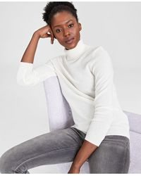 Charter Club Cashmere Turtleneck Sweater, In Regular And Petites, Created For Macys - White