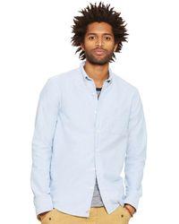 Denim & Supply Ralph Lauren Men's Distressed Oxford Sport Shirt - Blue