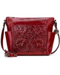 Patricia Nash Leather Aveley Crossbody - Red