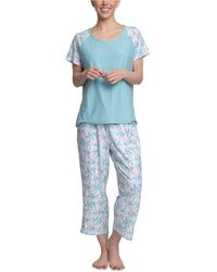 Muk Luks Dream Knit Capri 2pc Pajama Set - Blue
