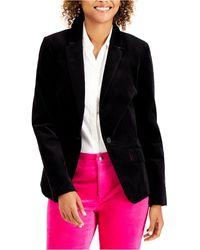 Charter Club Velveteen Blazer, Created For Macy's - Black