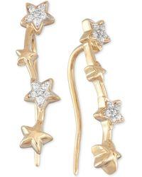 Wrapped in Love - Diamond Multi Star Ear Crawlers (1/10 Ct. T.w.) In 10k Gold - Lyst